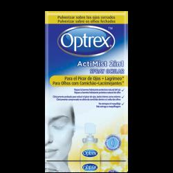 Optrex Silmäsuihke, 2 yhdessä, allergisille ja kuiville silmille.10ml