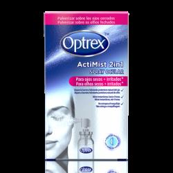 Optrex Silmäsuihke, 2 yhdessä, kuiville ja ärsyyntyneille silmille.10ml