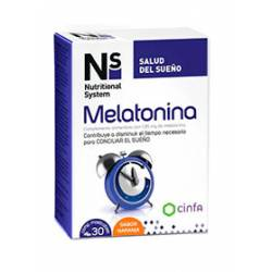 N+S MELATONINA COMP MASTICABLES NARANJA 1.95 MG