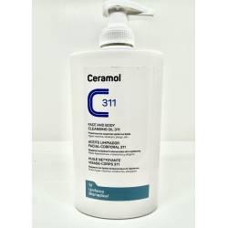 Ceramol öljymäinen pesugeeli allergiselle iholle, 400ml pumppupullo